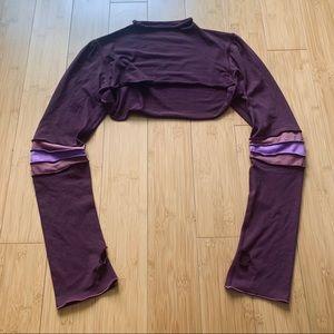 Lululemon Long Sleeve Crop Top